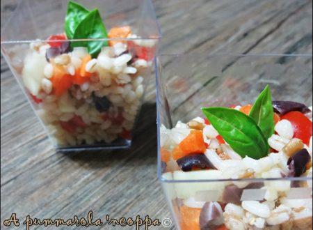 Insalata di riso, farro e orzo