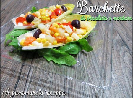 Barchette di insalata e verdure