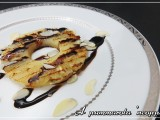 Ananas grigliato con miele mandorle cioccolato ricetta A pummarola 'ncoppa blog cucina frutta