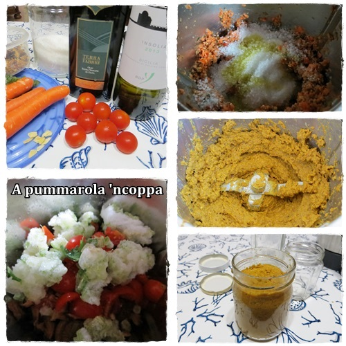 dado vegetale bimby pentola pressione ricetta A pummarola 'ncoppa blog cucina pomodori zucchine aglio funghi carote cipolla
