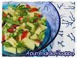 Insalata di patate e verdure pomodori rucola ricetta A pummarola 'ncoppa blog cucina