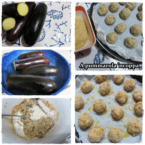 Polpette di melanzane con formaggio ricetta blog cucina giallo zafferano A pummarola 'ncoppa