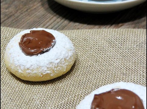 Biscotti al Philadelphia con Nutella
