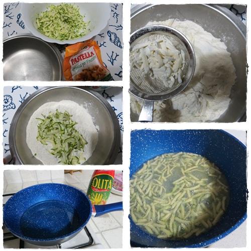 Chips di zucchine fritte bastoncini di zucchine ricetta blog cucina A pummarola 'ncoppa giallo zafferano