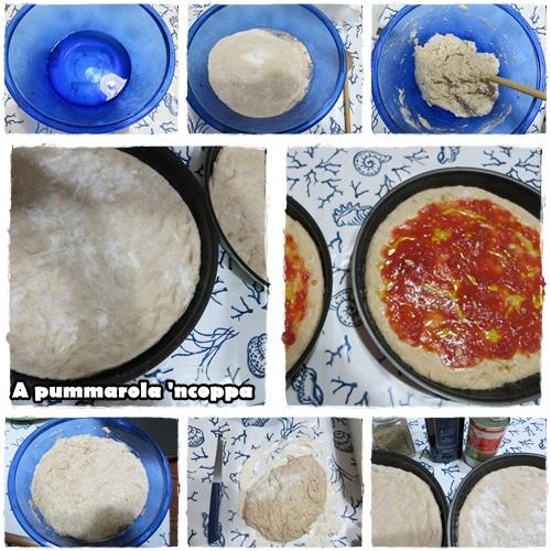 Pizza integrale senza impasto ricetta blog giallo zafferano A pummarola ncoppa lievitazione olio origano aglio