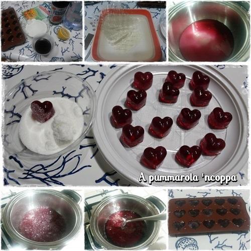 Caramelle gelee fatte in casa a pummarola 39 ncoppa for Casa di caramelle