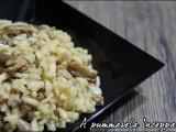 Risotto salsiccia e funghi ricetta blog cucina giallo zafferano A pummarola 'ncoppa primo piatto