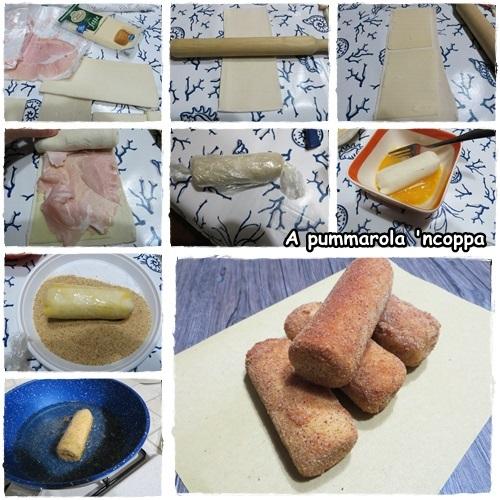 Rotolini di pan carrè fritti prosciutto salumi speck formaggio ricetta blog cucina giallo zafferano a pummarola 'ncoppa