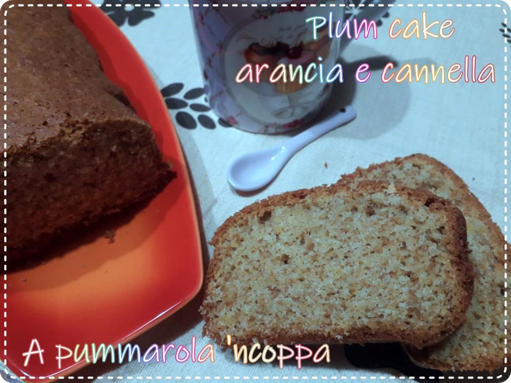 plum cake farina di avena arancia e cannella