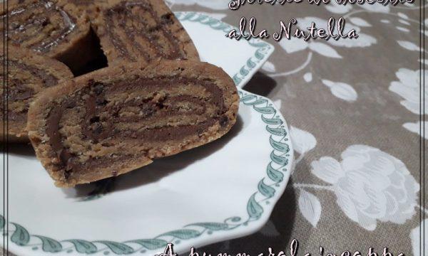 Girelle di biscotto alla Nutella senza cottura