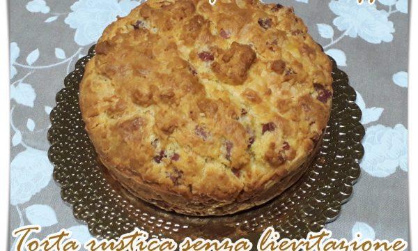 Torta rustica salata senza lievitazione