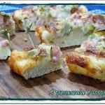 Pizza veloce con carciofi