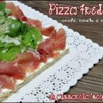 Pizza fredda crudo rucola e scaglie