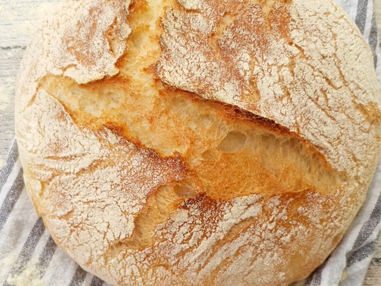 pane semplice senza impasto