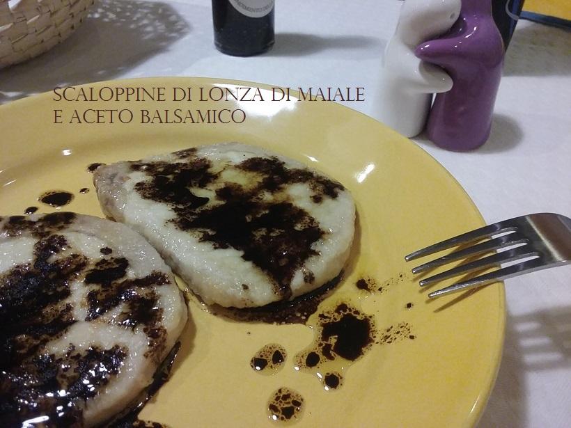 SCALOPPINE DI LONZA DI MAIALE E ACETO BALSAMICO