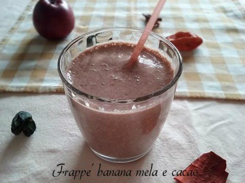 Frappè banana mela e cacao