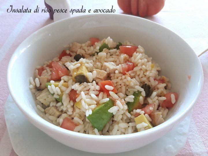 insalata di riso pesce spada e avocado