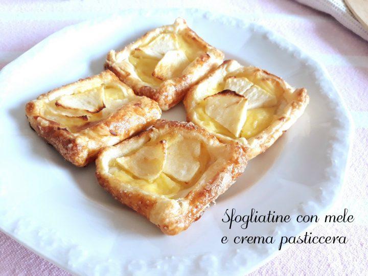 sfogliatine con mele e crema