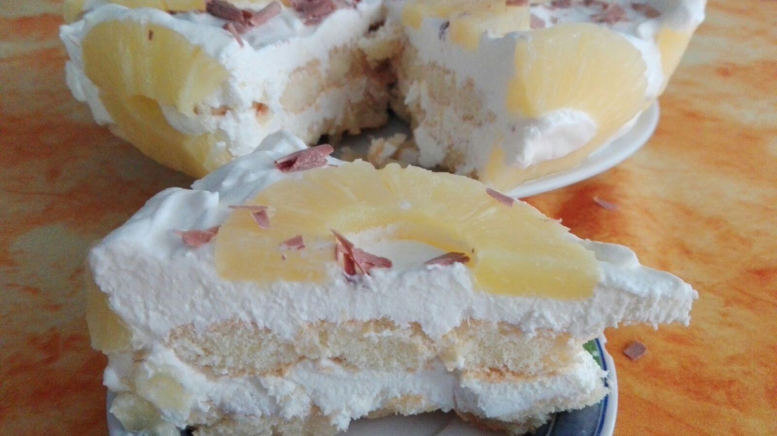 Torta fresca ananas e panna