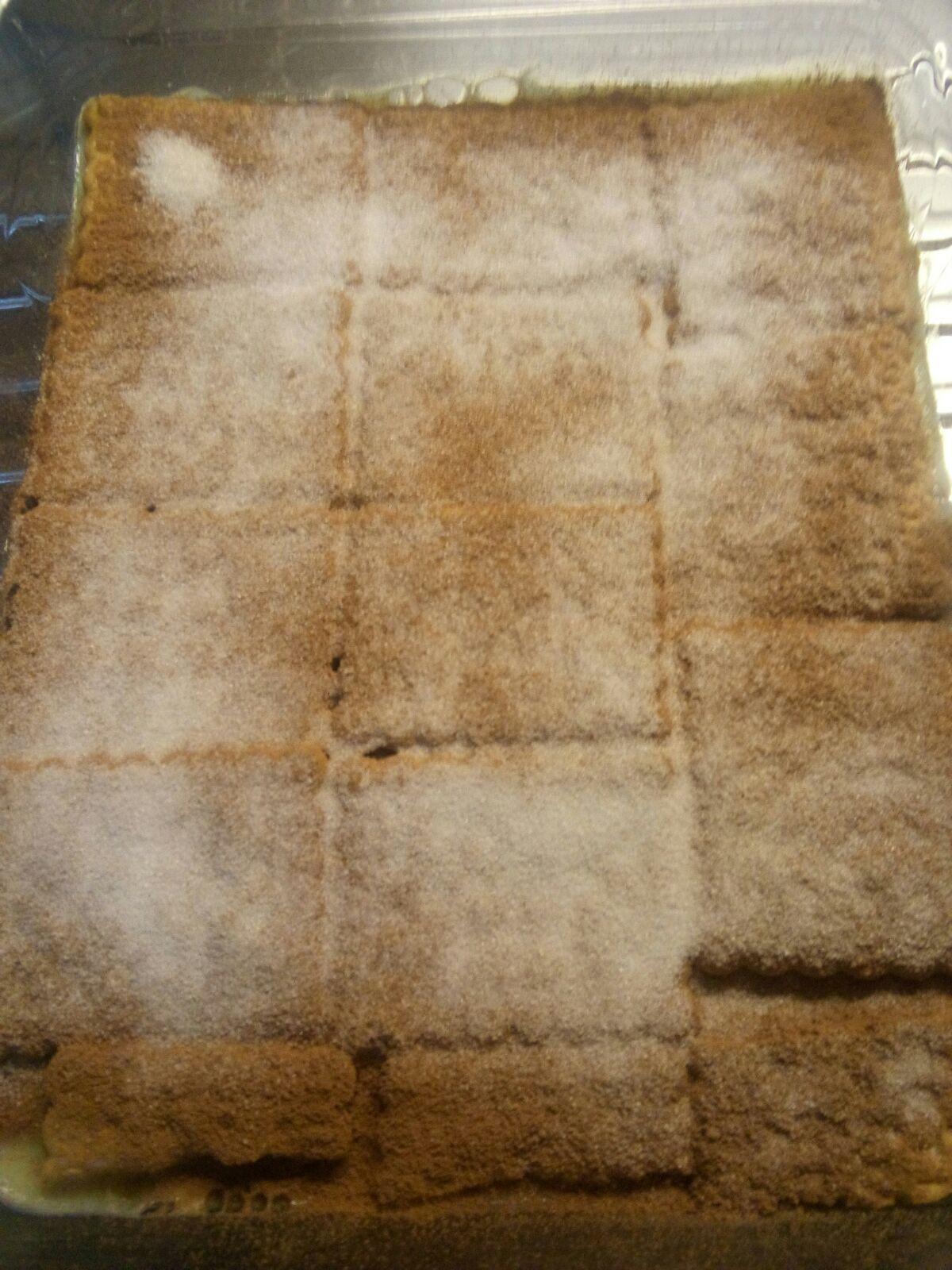 Torta di budino bicolore (mattonella)