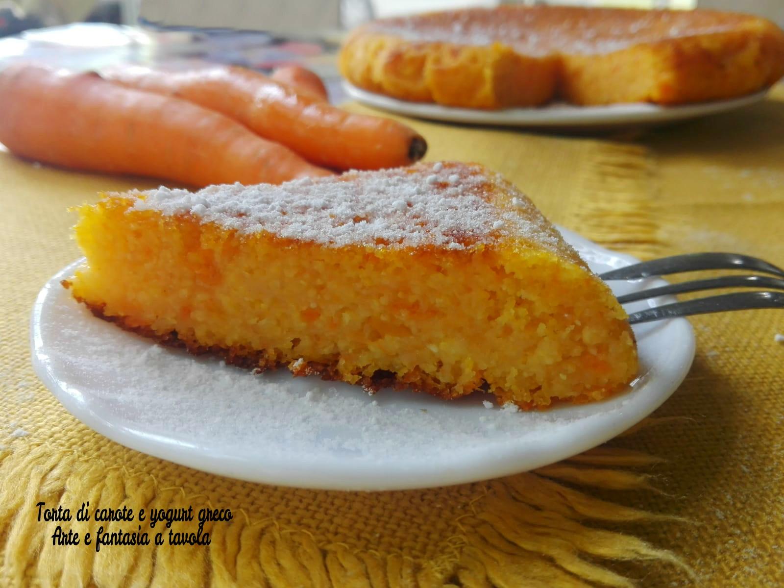 Torta di carote e yogurt greco