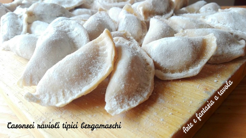 Casonsei ravioli tipici bergamaschi