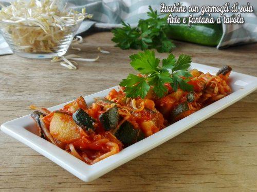 Zucchine con germogli di soia