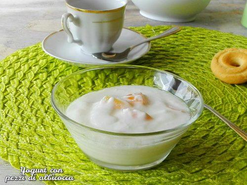 Yogurt con pezzi di albicocca