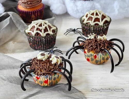 Cupcake ragnetti per halloween