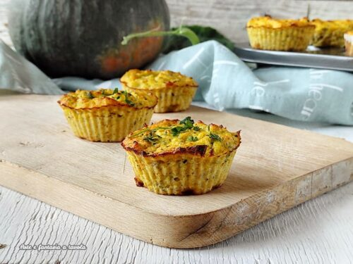 Muffin salati zucca e zucchine