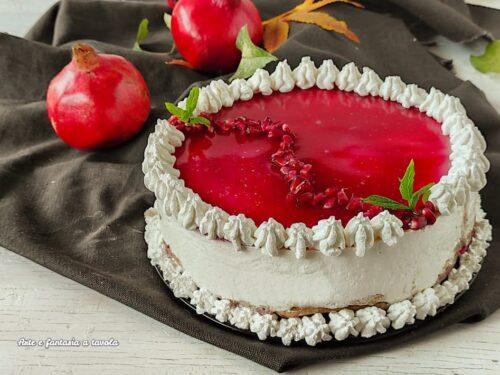 Torta namelaka cioccolato e gelatina di melagrana