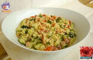 Cous Cous Verdure Cotte e Pancetta Affumicata