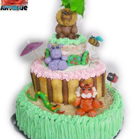 Torta del Leone – torta a piani decorata