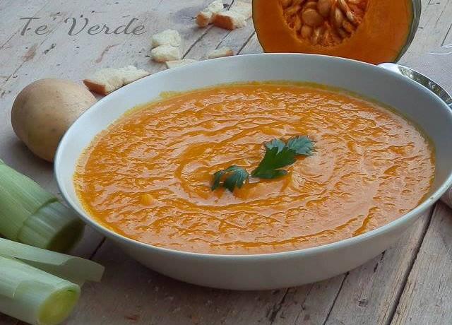 Crema Zucca e Porri – primo piatto