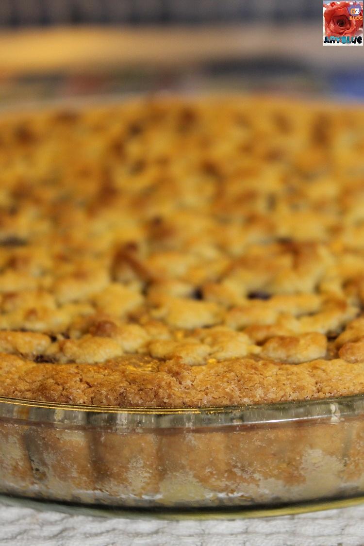 Crostata Sbriciolata Ricotta Amaretti e Cioccolato