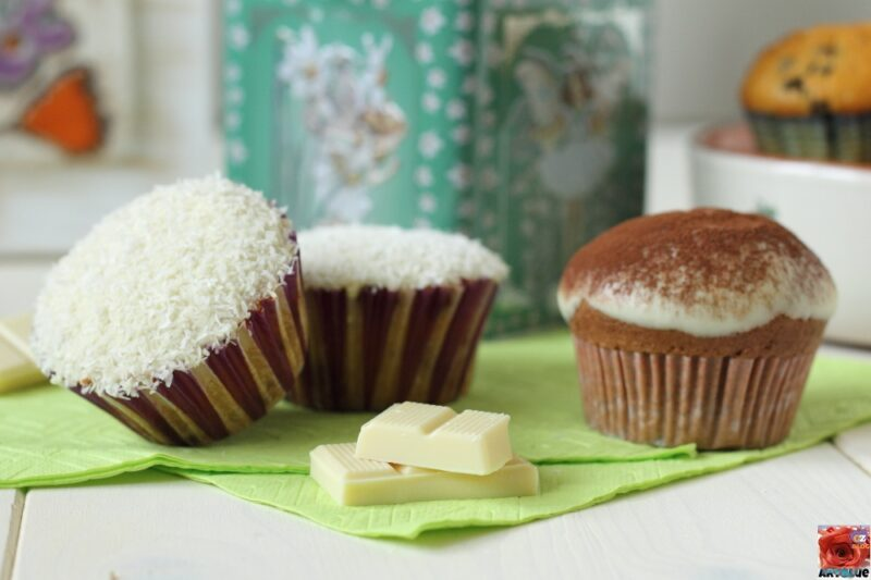 Muffins con Glassa al Cioccolato Bianco