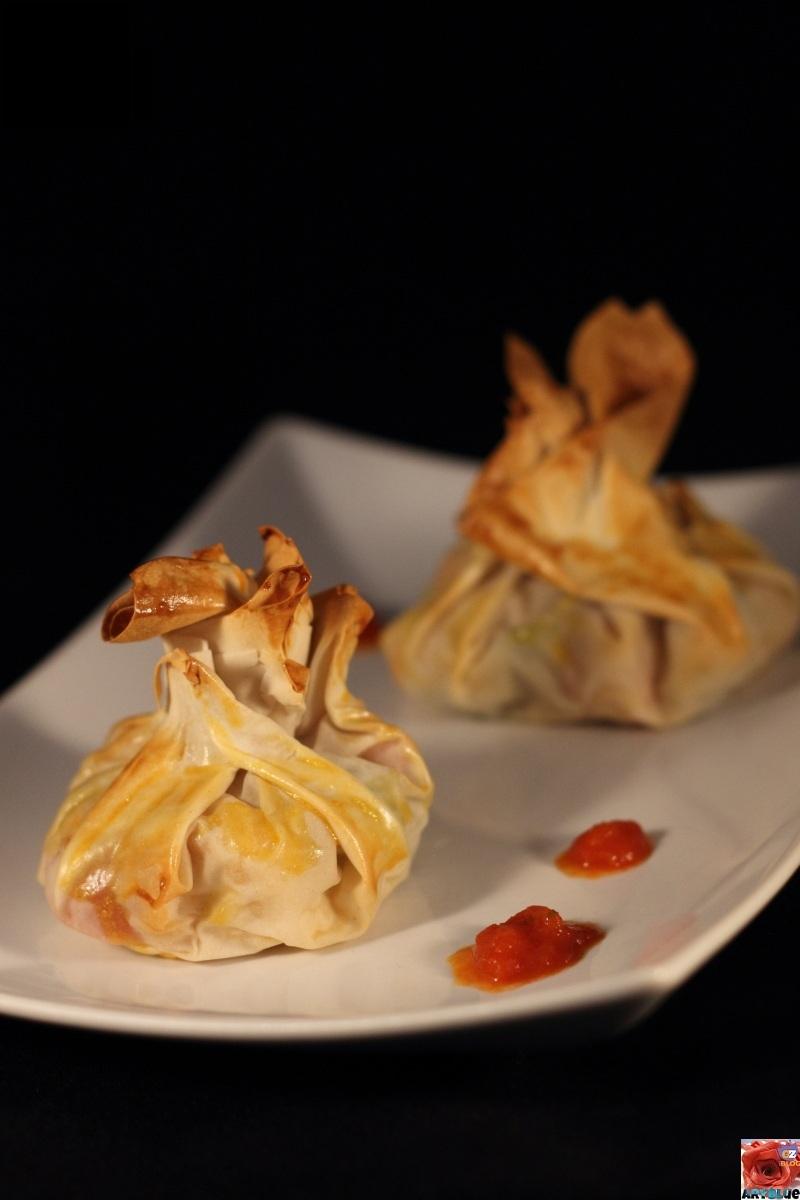 Fagottini di nasello in pasta fillo aryblue for Marchi di pasta da non mangiare