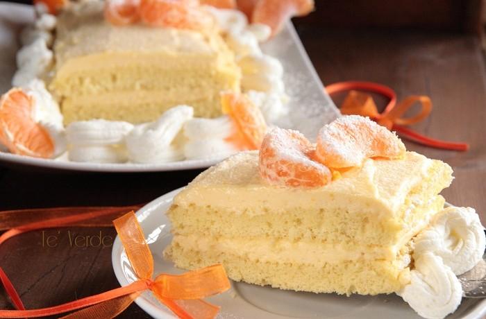 Mattonella dolce al mandarino