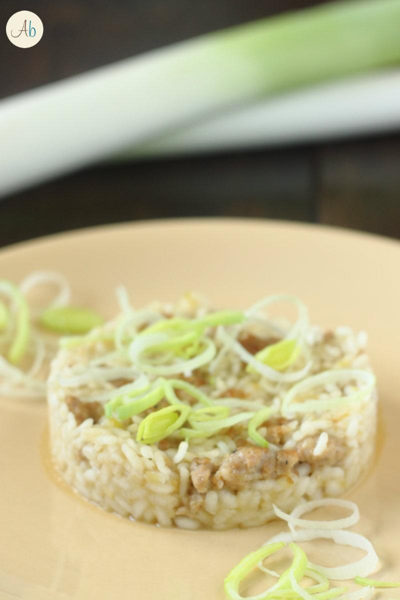 risotto porri e salsiccia