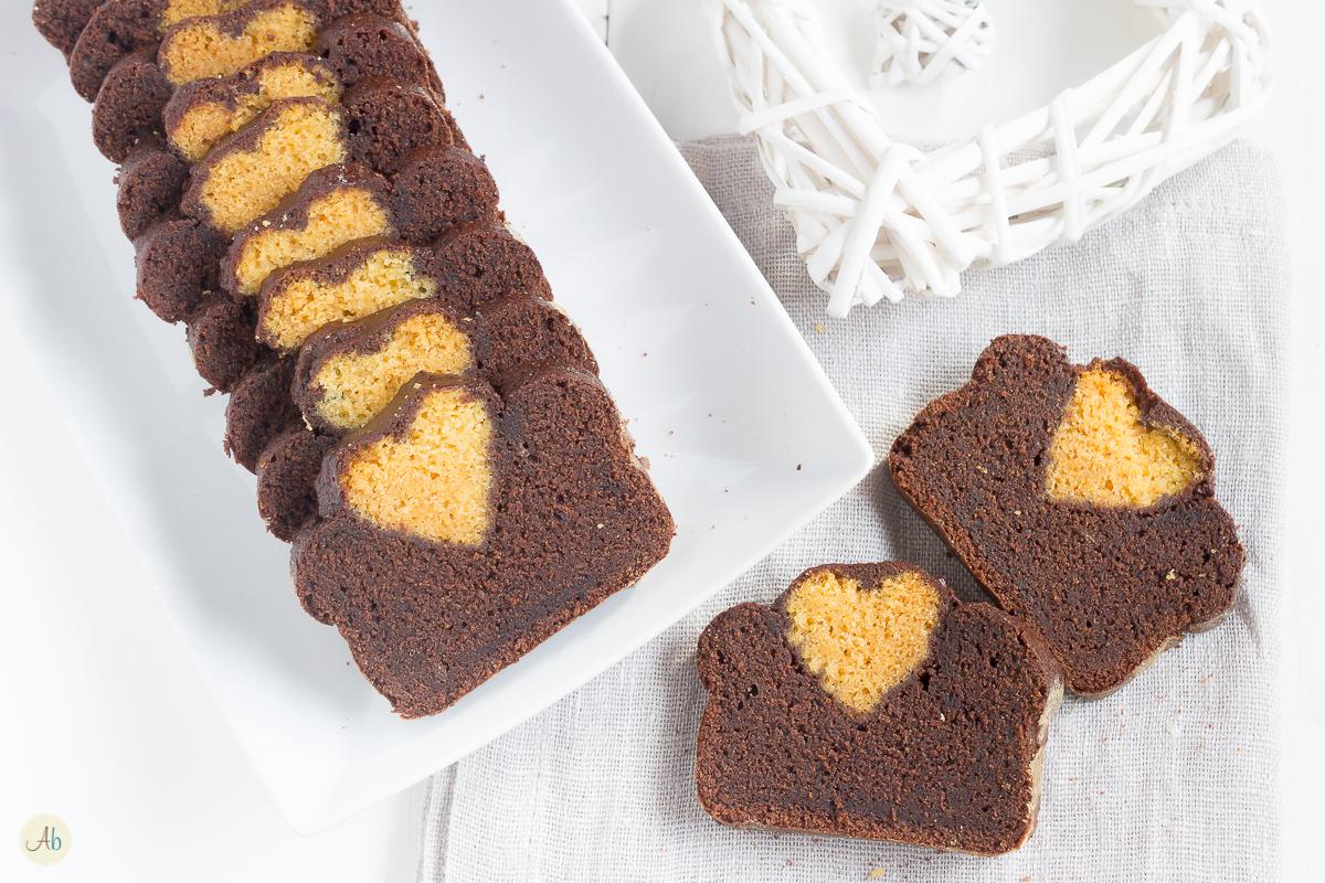 Plumcake col Cuore - variegato miele e cacao | Aryblue