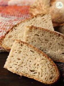 Pane con farine biologiche