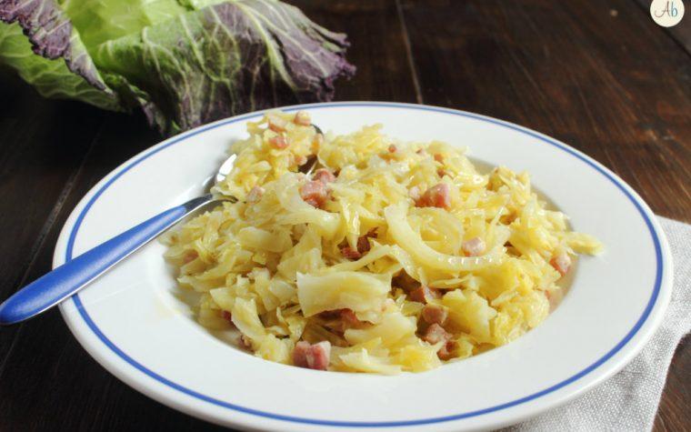 Verza Stufata con Pancetta – l'inverno nel piatto