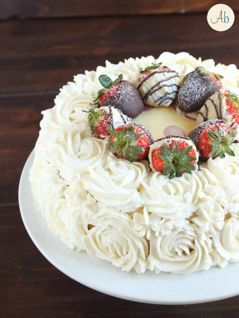 Torta Fragole e Cioccolato Bianco
