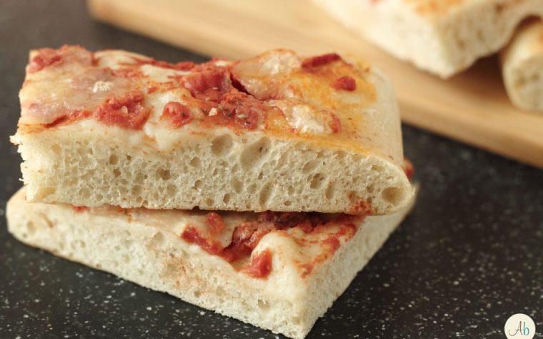 Pizza al Taglio Alta e Soffice – a lunga lievitazione