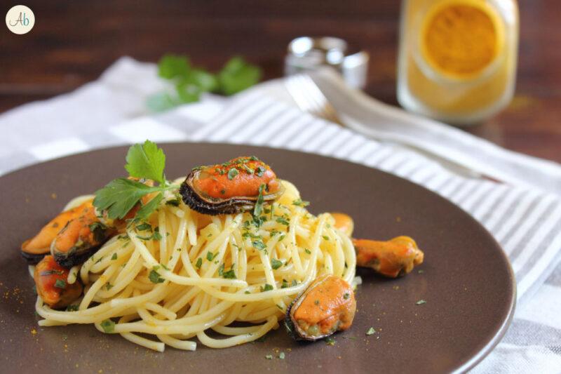 Spaghetti con le Cozze al Curry
