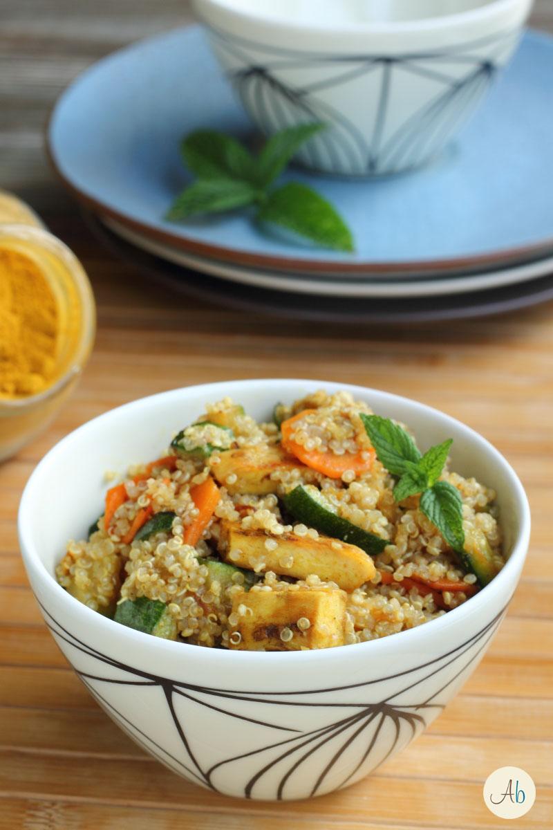 Ricette Con Quinoa Pollo E Verdure.Insalata Di Quinoa E Pollo Al Curry Aryblue