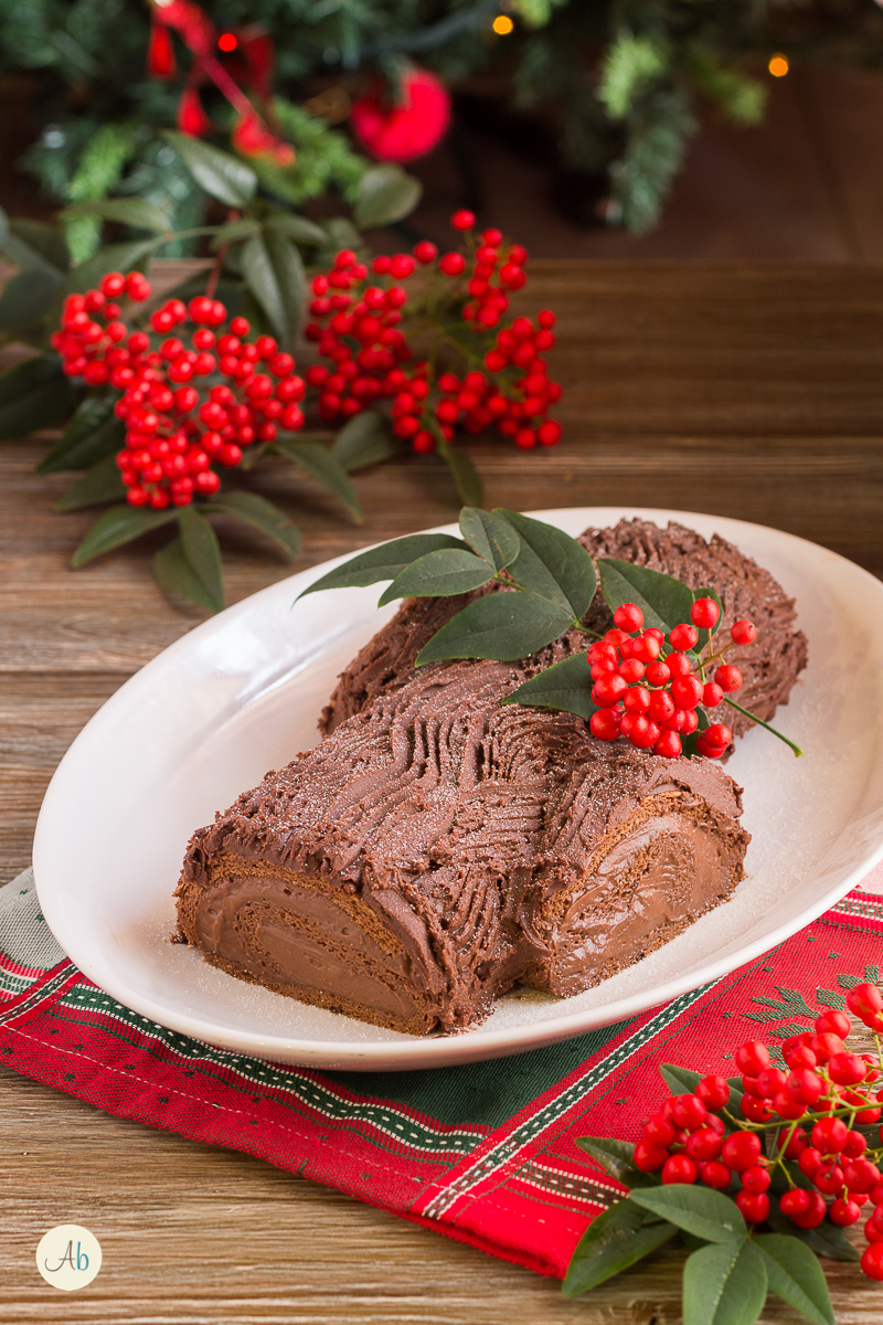 Tronchetto di Natale al cioccolato