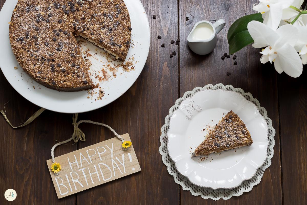 Torta sbriciolata mascarpone e cioccolato
