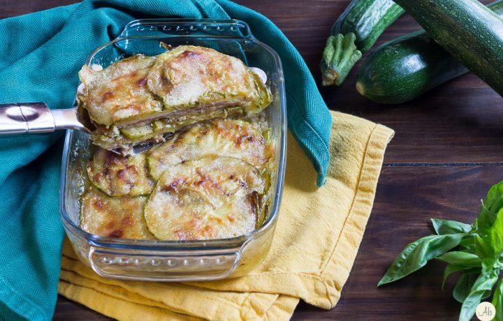 Parmigiana leggera di zucchine