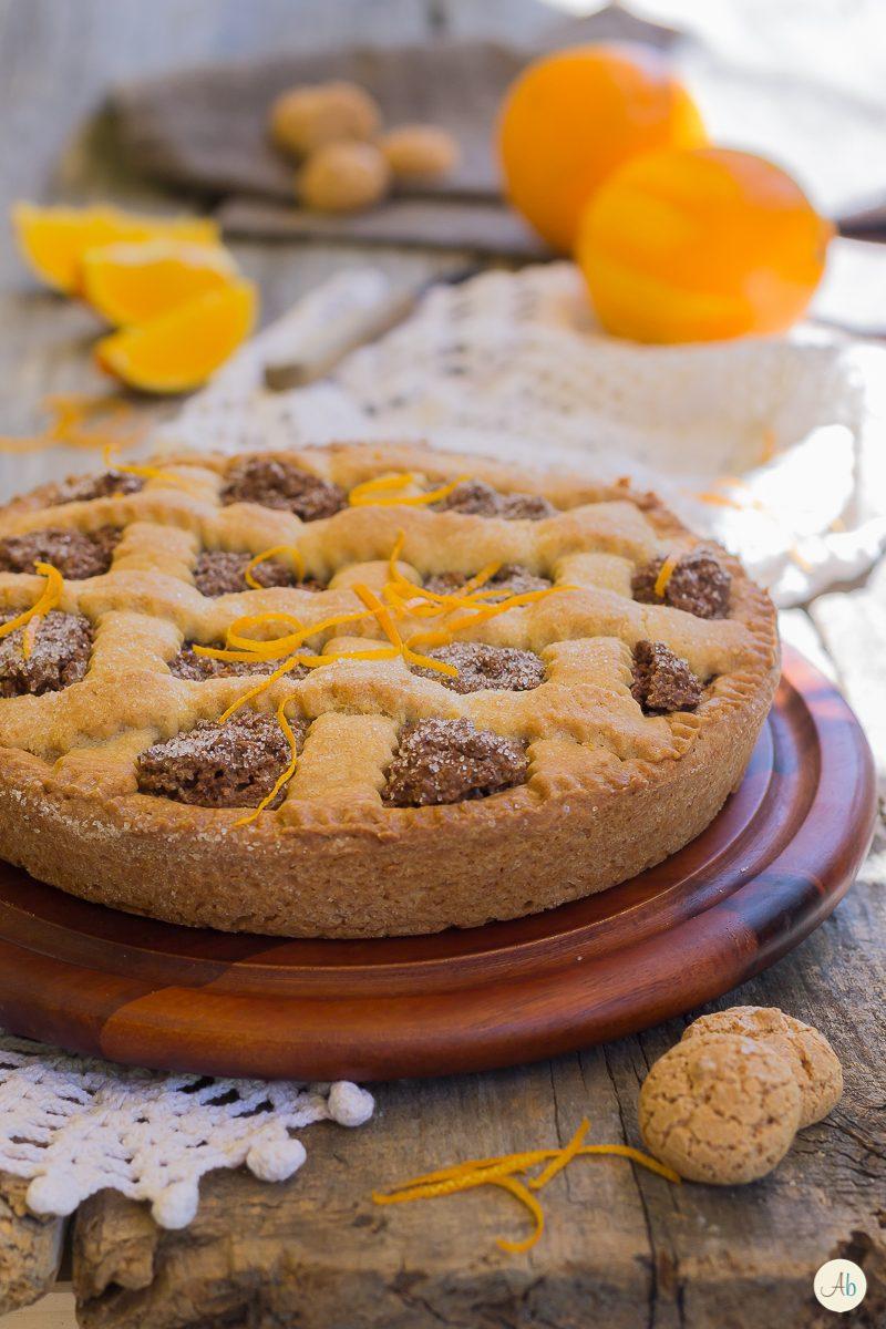 Crostata alla Crema di Amaretti e Marsala al Profumo di Arancia